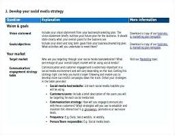 Business Brief Example Social Media Templates Free Download Small Business Strategy Example