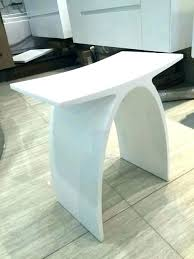 stone shower bench modern shower bench seat new matte curved bathroom stool steam chair white stone stone shower bench