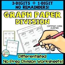 Long Division On Graph Paper 3 Digits By 1 Digit No Remainders