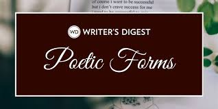 List Of 100 Poetic Forms For Poets Types Of Poetry And Poems