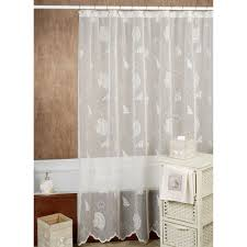 White Cotton Shower Curtain Extra Long Shower Curtains Design