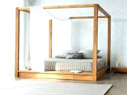 wood canopy bed frame queen – thebuddhaplay.com