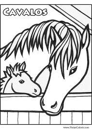 Tekeningen Te Schilderen Kleur Horses Print Design 011