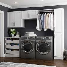 laundry room storage cabinets. Madison 105 In White Laundry Cabinet Kit On Room Storage Cabinets The Home Depot
