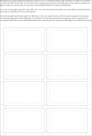 illustrator business card template adobe illustrator business card template with bleed archives