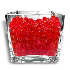 Decorative Vase Filler Balls Custom 32g Red BIG Round Deco Water Beads Jelly Vase Filler Balls For