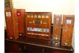 Cigarette Vending Machines For Sale Mesmerizing Five Vintage Wooden Cigarette Vending Machines