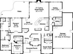 Ranch style house  Ranch style and Walkout basement on PinterestRanch Style House Plans   Square Foot Home   Story  Bedroom and