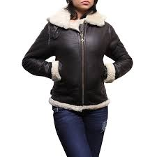 las women s cream hooded aviator real shearling sheepskin flying leather jacket coat callie