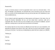 Business Appreciation Letter To Client Writing Mail First