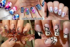 19 Best And Easy Flower Nail Art Designs - Latest Nail Art Trends 2017
