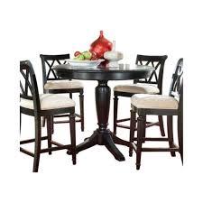 american drew camden 5 piece round counter height pedestal table set