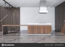 Beton Und Holz Esszimmer Bar Stockfoto Denisismagilov