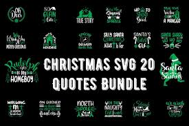 Print digital christmas patterns on your cardstock to add a fun festive touch to this christmas ornament gift box svg file! Christmas Svg 20 Quotes Bundle Graphic By Design Store Creative Fabrica