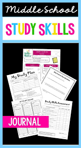 Study Skills Journal For Middle School Students