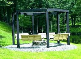 covered outdoor swing wooden with canopy swinging benches bench images about porch swings lawn menards