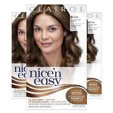 Clairol Nicen Easy Original Permanent Hair Color 6 Light Brown 3 Count