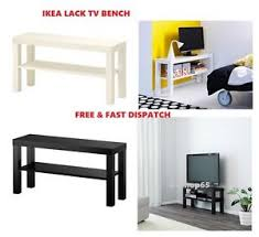 Image is loading Ikea-Lack-TV-Bench-Black-and-White-TV-
