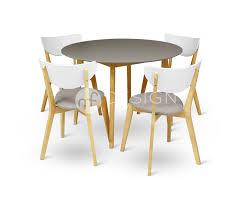 estonia natural wood 14 dining set round table mf design information interior design san go