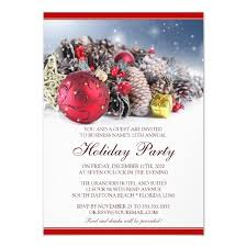 Company Christmas Party Invites Templates Festive Business Holiday Party Invitation Template
