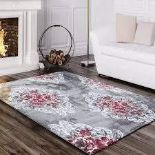 designer rug vintage flowers pink 001