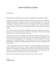 Motivation Letters For Internship Barca Fontanacountryinn Com