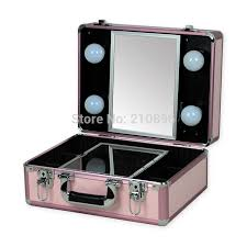 Portable Vanity Mirror With Lights Adorable New Type Portable Makeup Case With Lights Light Weight Makeup Box