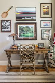 hooker desk home office transitional with bamboo chair brown zebra print seat cushion distressed wood desk animal hide rugs home office