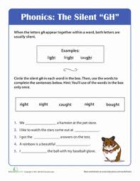 Phonics helps students learn to identify relationships between words and sounds. Phonics Fun Silent Gh Worksheet Education Com