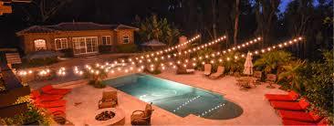 market lights string lights backyard wedding lighting in san go
