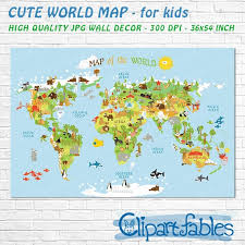 High Quality World Map Printable World Map High Resolution Unique Baby Gift Nursery Wall Art Instant Download Gender Neutral Room Decor Cartoon Map For Kids