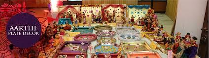 Hindu Wedding Decorations Plate Designs Aarthi plates decoration Wedding aarthi plate's designs 2
