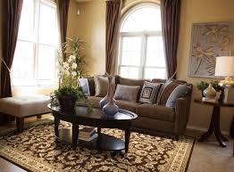 living room using fl area rugs plus brown sofa and curtain with 30 fresh brown