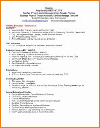 Massage Resume Examples Of Resumes Therapist Sample Cover Letter