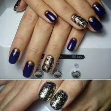 25+ Dark Blue Nail Art Designs, Ideas | Design Trends - Premium ...