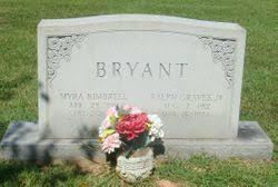 Myra Kimbrell Bryant (1911-2000) - Find A Grave Memorial