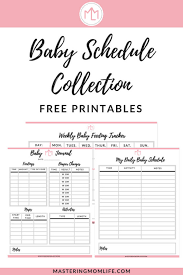 35 Logical Baby Schedule Chart Printable