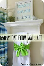 diy beach bathroom wall decor. Diy Bathroom Wall Decor Before Meets After Potty Words DIY Art For The Beach S