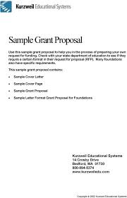 Sample Grant Proposal Pdf