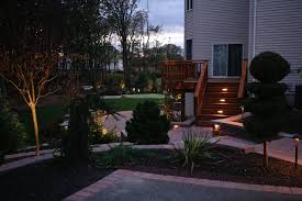 hardscape lighting by integral capstone fixtures and focus step lighting fixtures sl 08