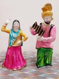 home decor punjabi bhangra statue