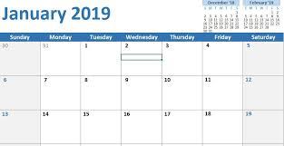 excel calandar 10 excel calendar templates 2019 monthly printable excel template