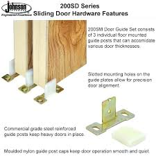 bypass door floor guide sliding closet nylon guides designs how to replace b