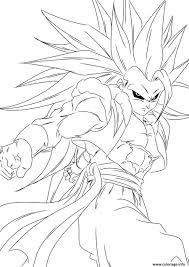 Coloriage Dragon Ball Z Sangoku Super Sayen Dessin Coloriage
