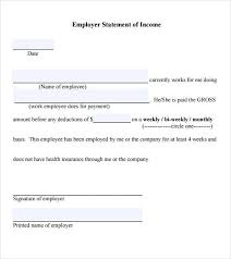 Proof Of Income Letter Letter Templates Free Employment