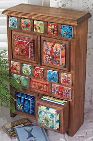 large ceramic storagecd chest mango wood hand fired ceramic spice jars bohemian furniture