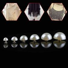 30/50Pcs New Practical Half Round <b>Pearl Rivets Button</b> for Cloth ...