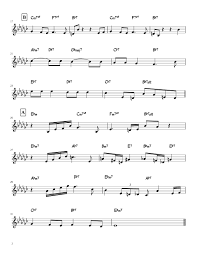 Round Midnight Chart Round Midnight Sheet Music For Alto Saxophone Download Free