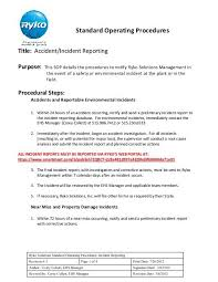Ryko Incident Reporting Sop