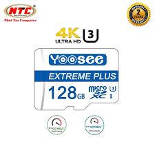 Thẻ nhớ microSDXC Yoosee Extreme Plus 128GB UHS-I U3 4K R90MB.s W40MB.s  [Xanh] - chuyên camera và điện thoại [ĐƯỢC KIỂM HÀNG] 22078949 - 22078949 | Thẻ  Nhớ Máy Ảnh